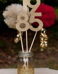Class reunion high school centerpiece table decoration you choose colors and year also my th birthday party brunch after dark rh nz pinterest