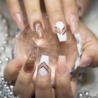 Pink and Gold Ballerina Nail Art | Nails | Pinterest ...