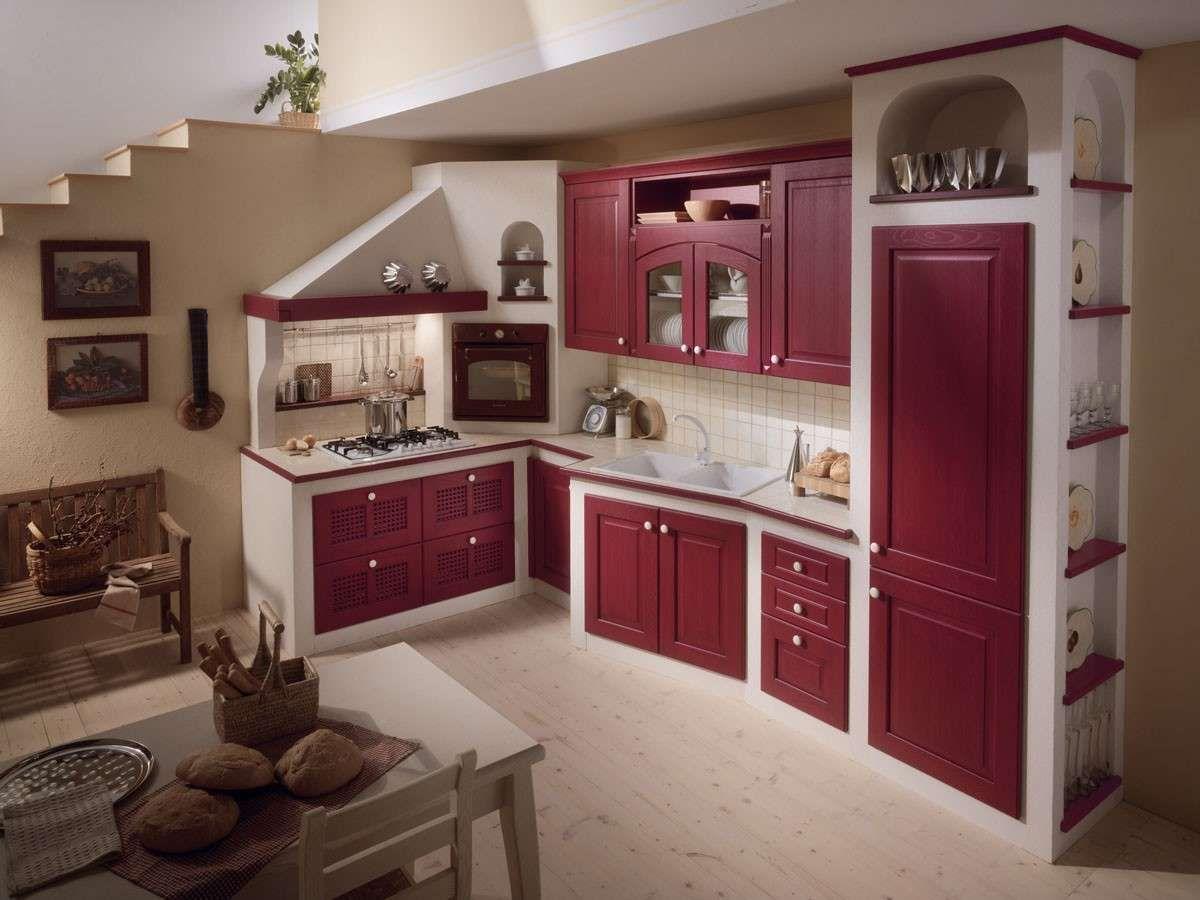 Cucine in muratura rustiche e moderne  Cucina in muratura bianco per un effetto luminoso  House