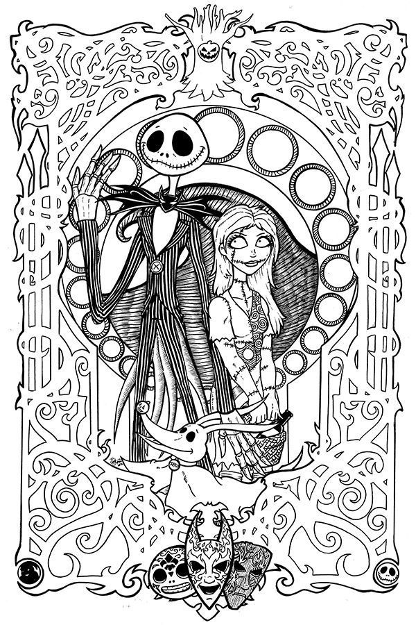 Free Printables: Nightmare Before Christmas Coloring Pages ...   free coloring pages for adults disney