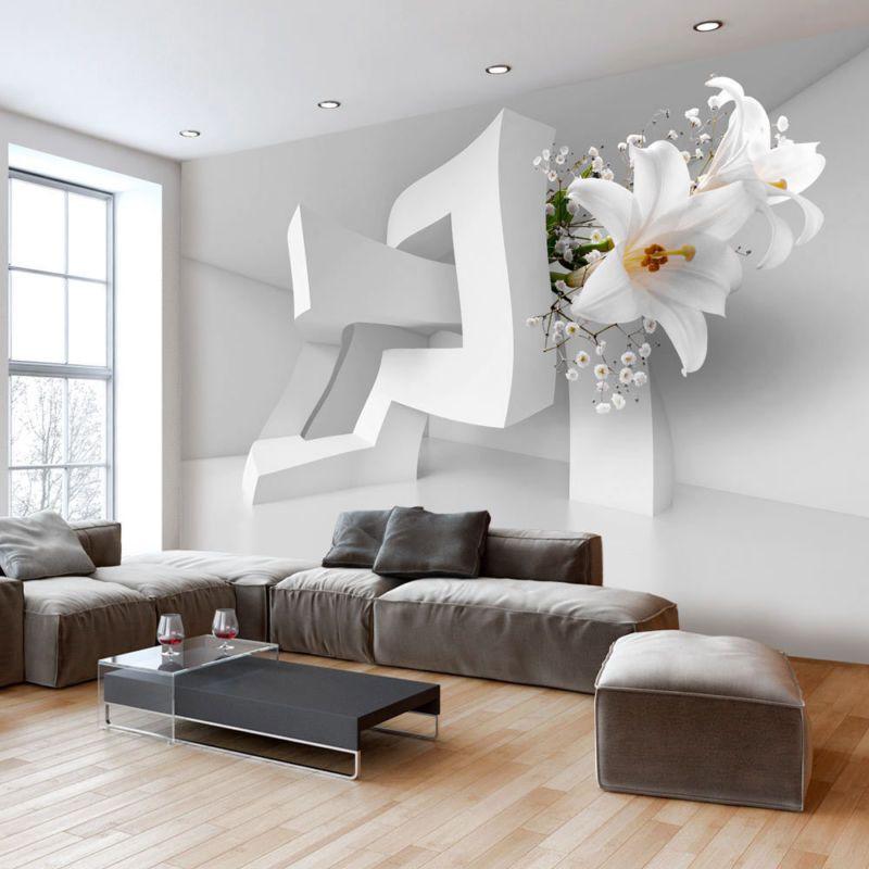 Details zu Fototapete 3d Optik Vlies Tapete Blumen Wandbilder xxl Wandtapete a-C-0072-a-a 3d