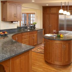 Kitchen Cabinet Granite Top Alder Cabinets Contemporary L Shape Decoration Using