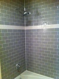 grey subway tile shower | OK, enough waiting. Heres the ...