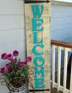 Rustic front porch welcome sign by redroansigns on etsy interior decor luxury style ideas home also pin sherry bloom pinterest porches and rh