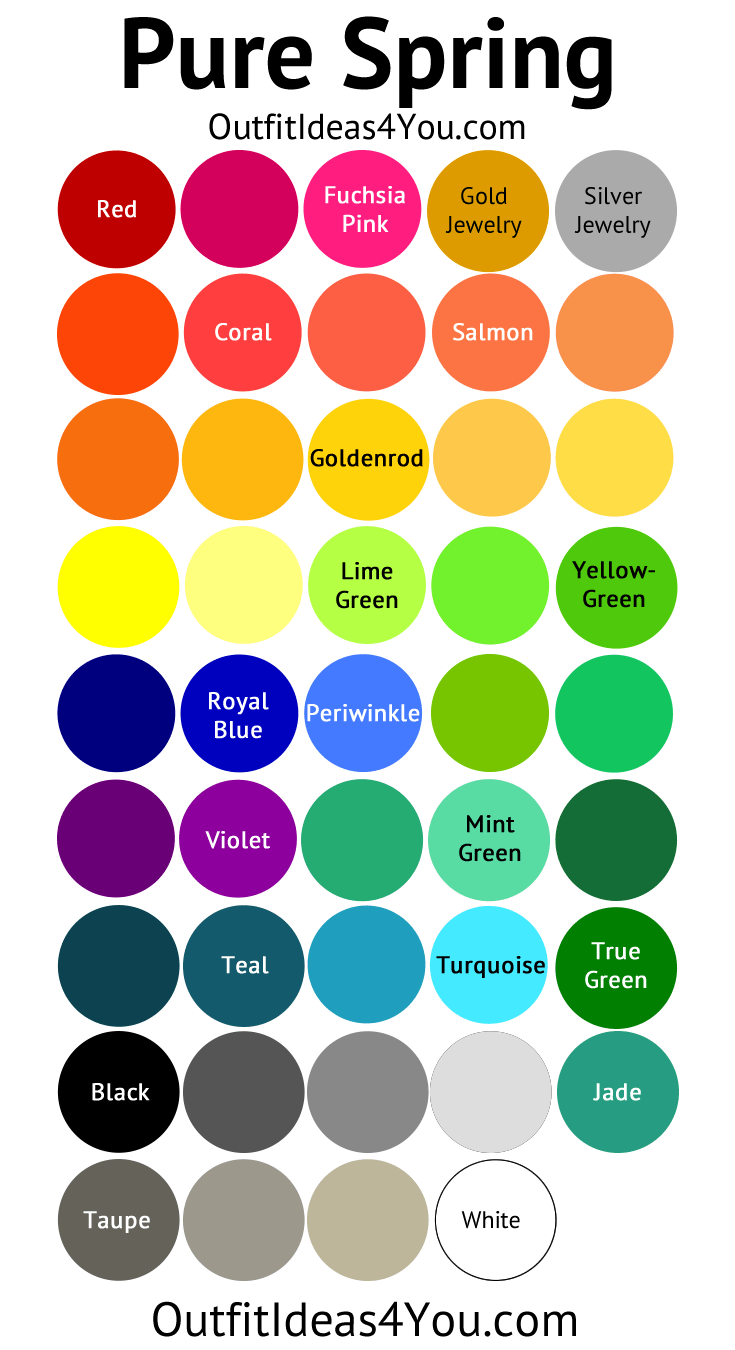 Light Summer Color Palette Pinterest