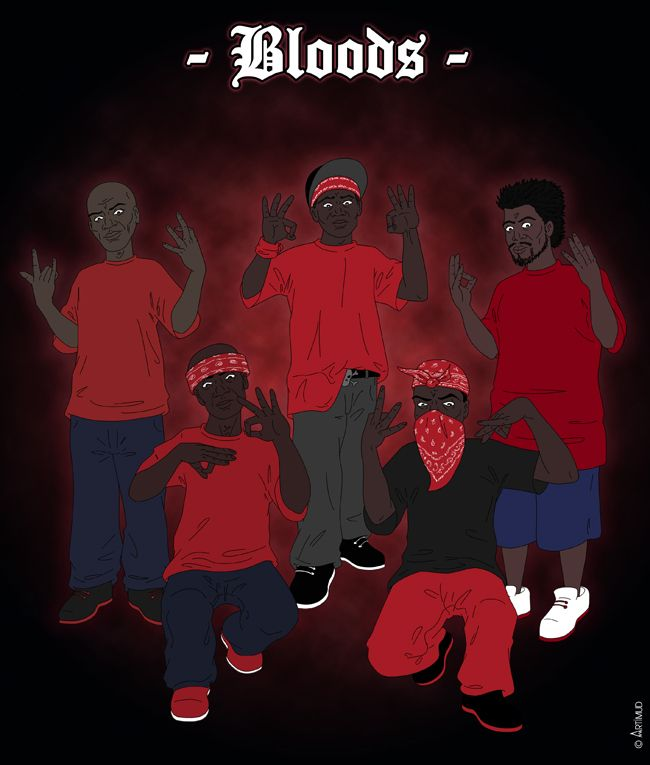 Crip Blood Cartoon Picture S