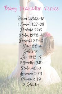 Baby Dedication Party Ideas: Verses, Activities, and Food ...