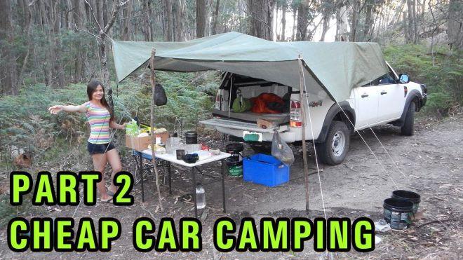 Cheap diy car camping setup part 2 dirt road campsite
