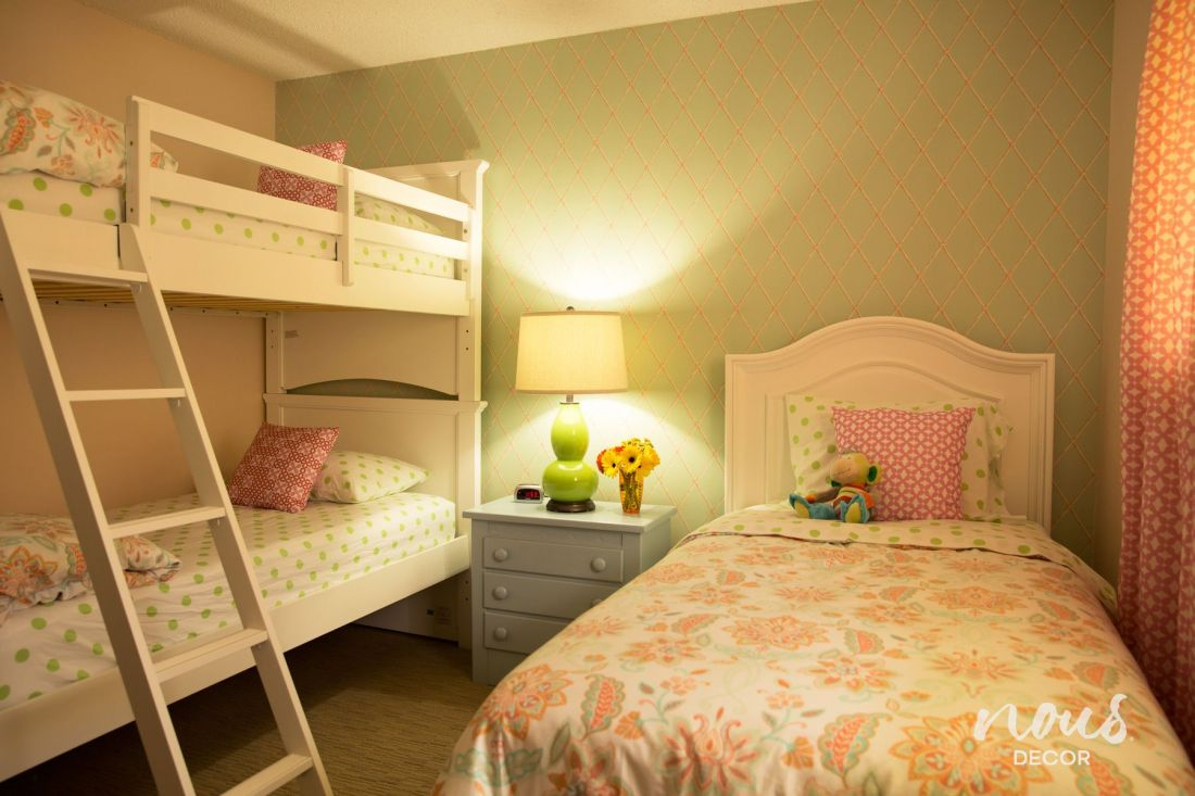 Before after a bedroom for three girls bedrooms