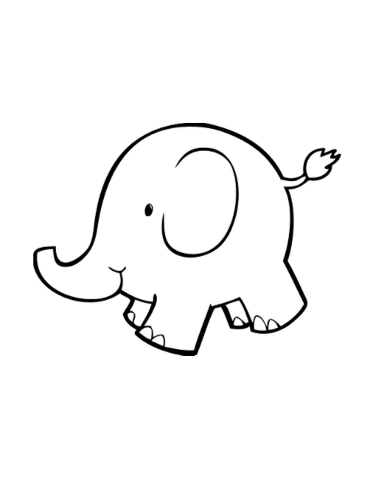 Baby Elephant Outline Digital Download Clipart Art Clip Digital Art