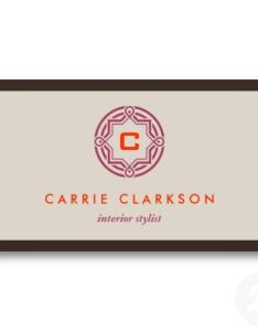 Decorative initial logo in tan customizable business card for interior designers also palette rh pinterest