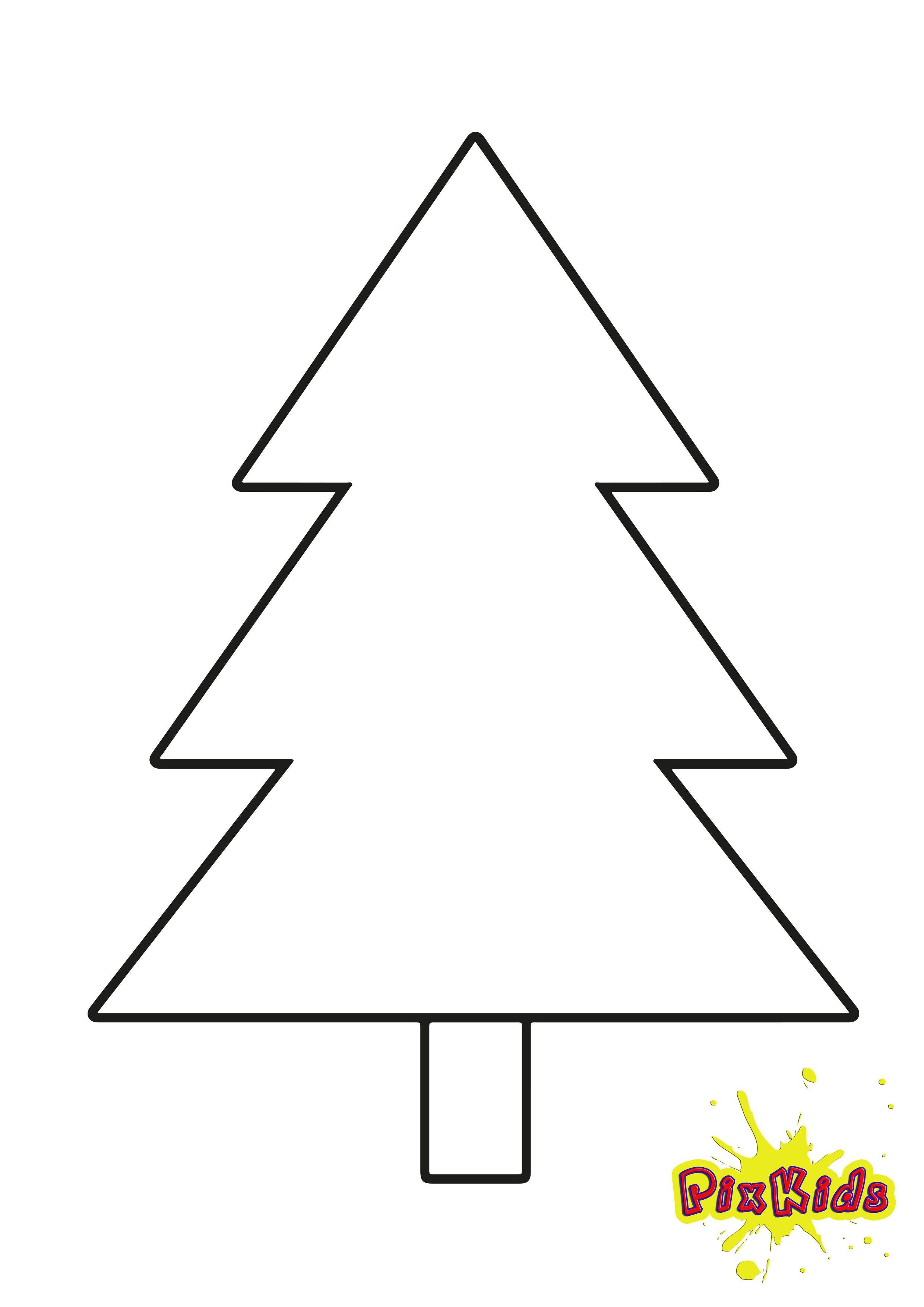 Malvorlage Tannenbaum einfach kostenlos Vorlagen