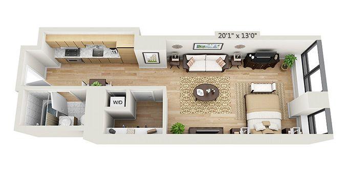 Studio Apartment Floor Plans New Yorkluxury New York City  13 x 30  Tiny House  Pinterest