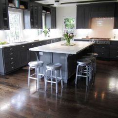 Grey Wood Kitchen Table Black Round Impressive Wooden L Shaped Cabinets And