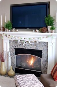 mantel with TV decorating ideas | LIke the idea of putting ...