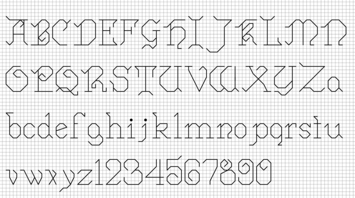 Cross Stitch Font Backstitch 1000+ images about backstitch