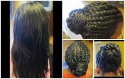 flat twists relaxed hair