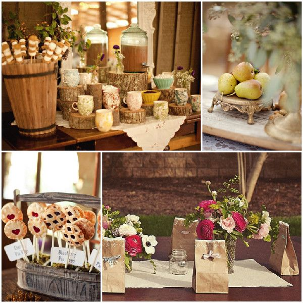 Rustikale Hochzeit Inspiration Dekoration und