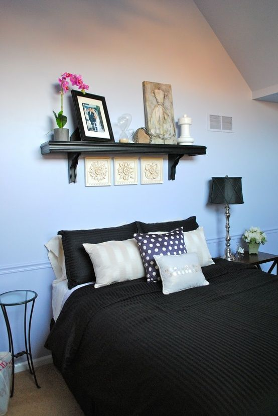 Shelf above bed home diy remodeling also for the pinterest rh