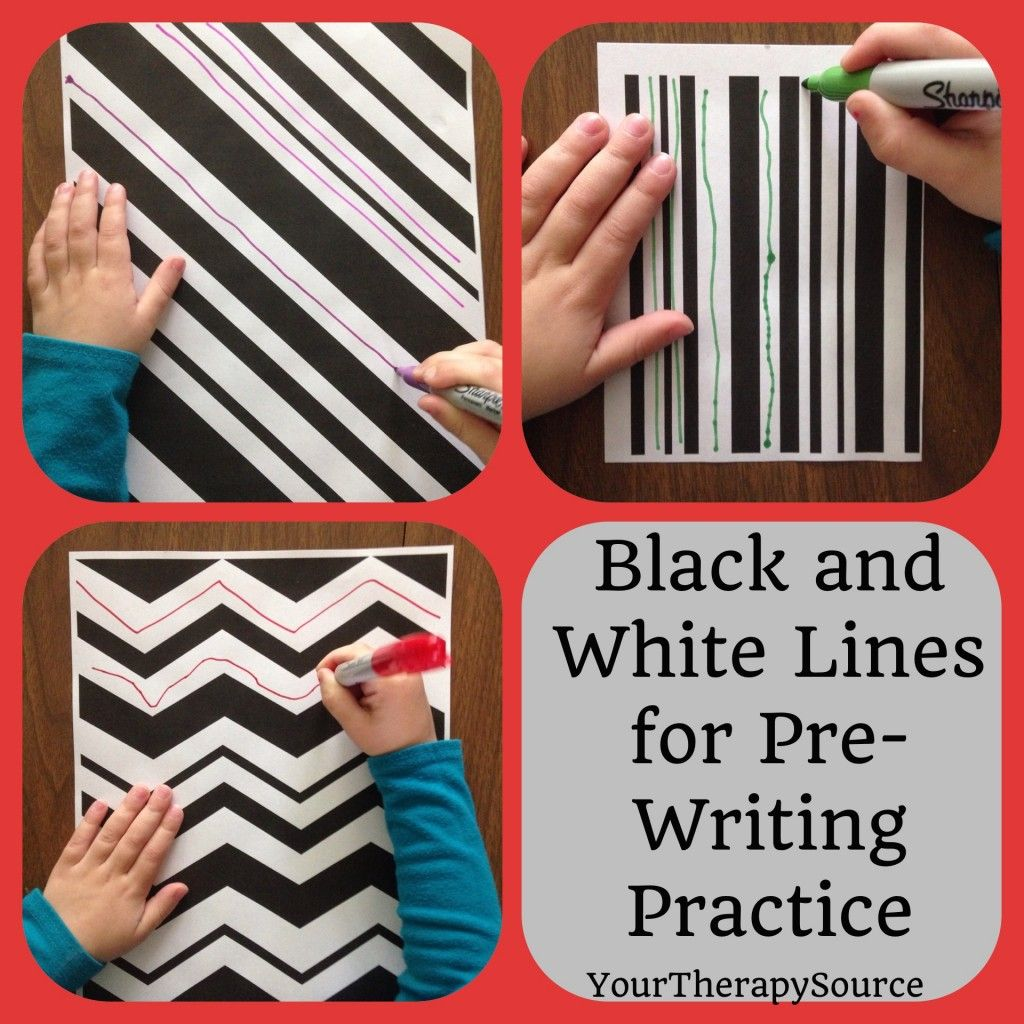 Download These Free Black And White Line Pages To Practice Horizontal Vertical Diagonal Zig