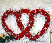 heart wedding decorations for reception