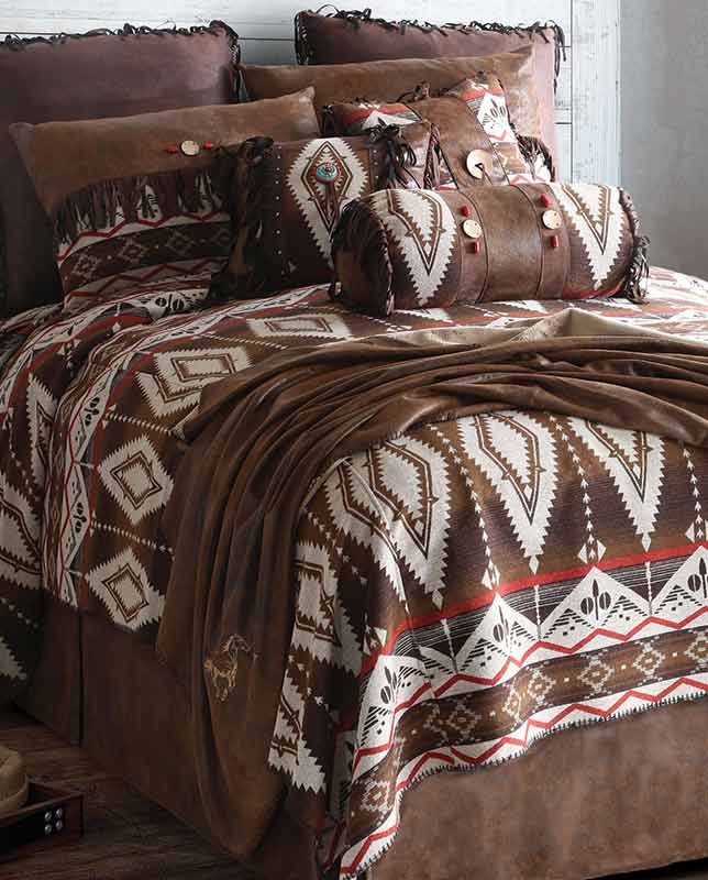 Pecos Trail Queen Comforter Bedding Set