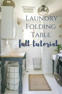 The Perfect DIY Laundry Folding Table   Laundry folding ...