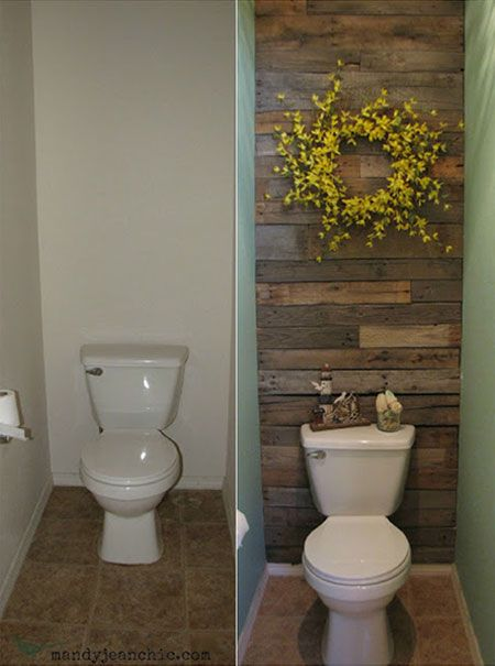 Diy decorating ideas pallets are inexpensive and extremely versatile in this powder room also rh pinterest