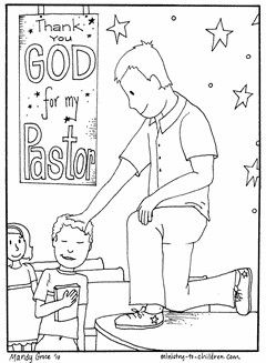 Coloring sheet & ideas for Pastor appreciation Sunday (2nd