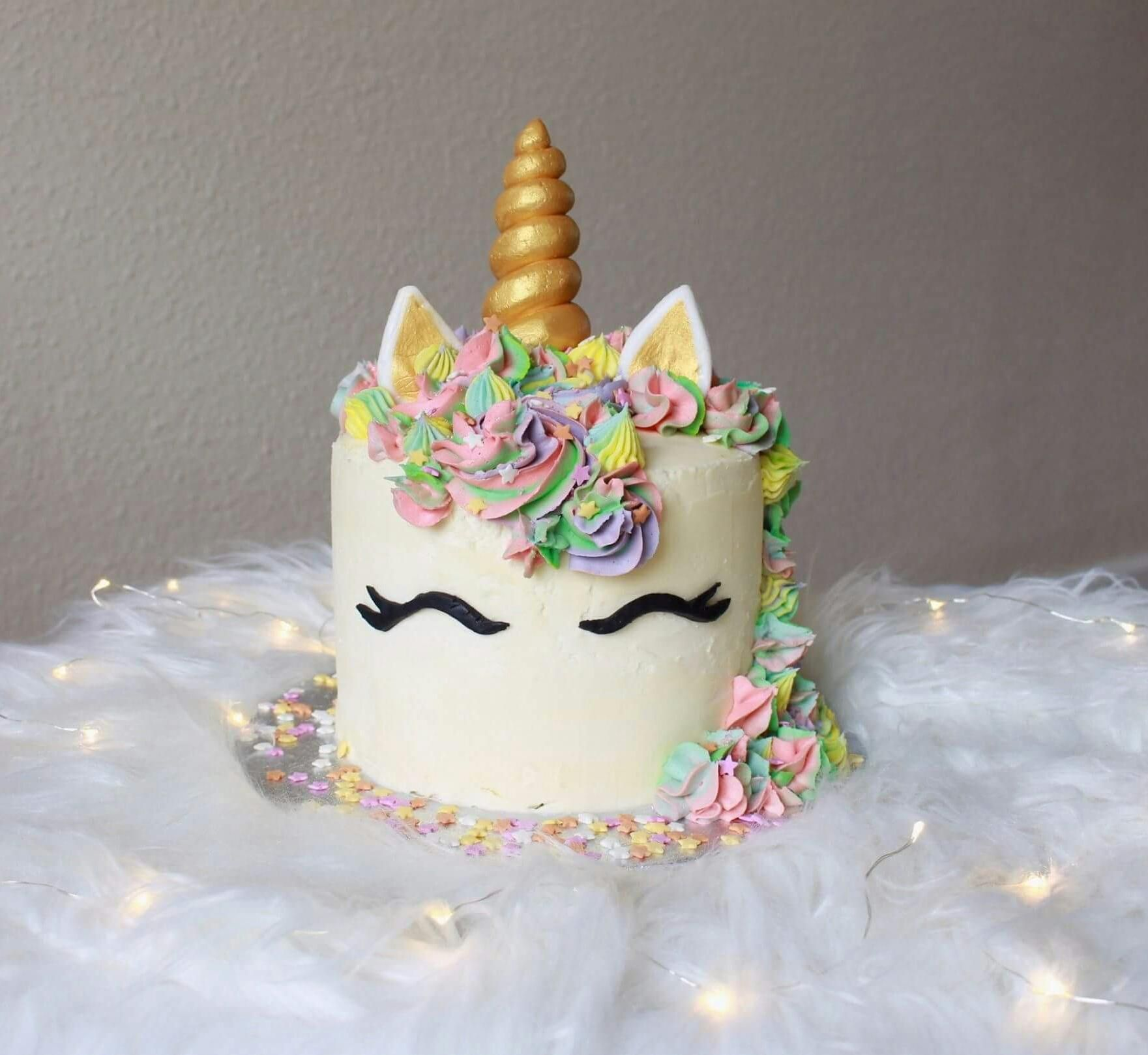 Homemade Unicorn Birthday Cake