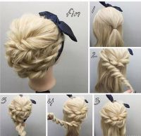 Easy Tutorial for Rope Braided Updo Hairstyles 2017 | Rope ...