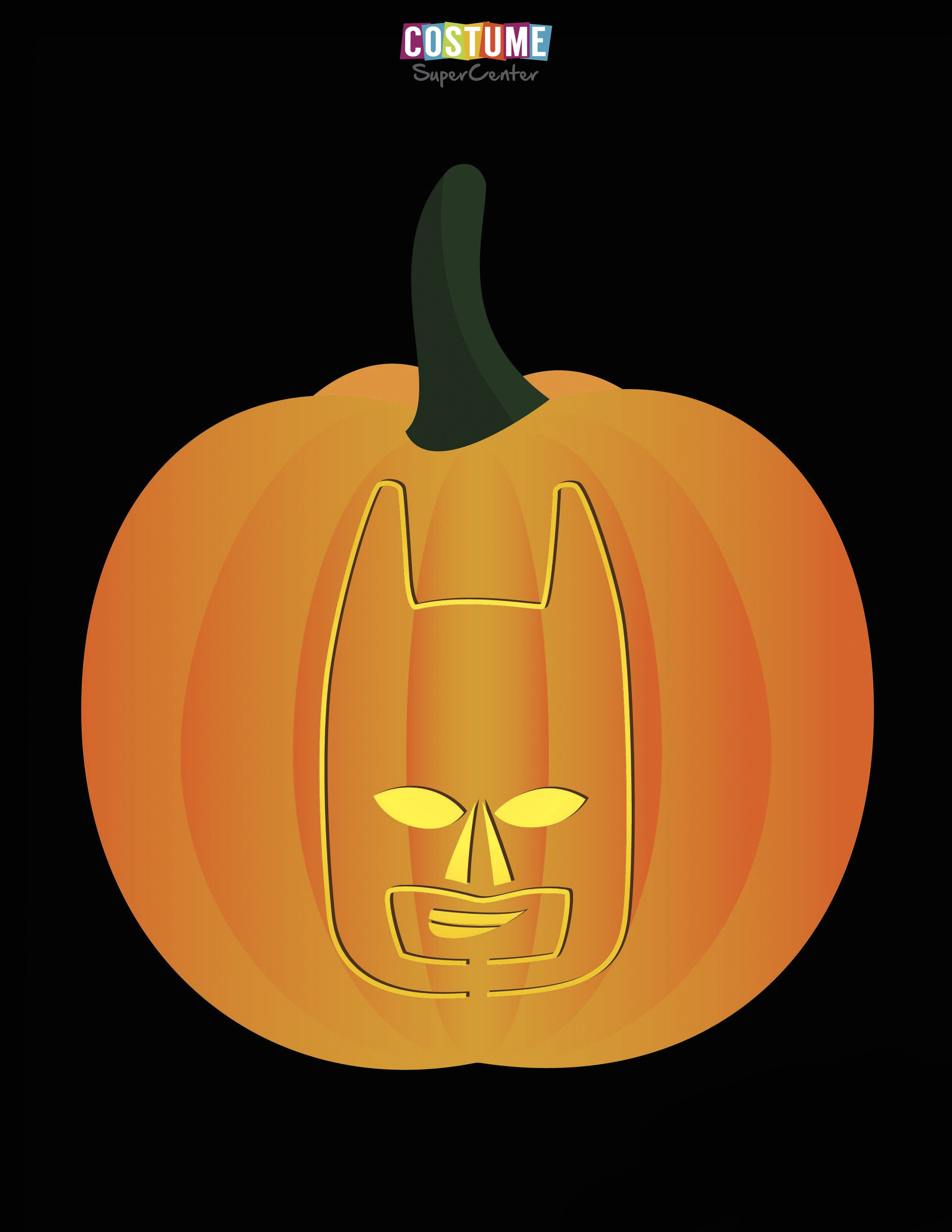 Lego Batman Pumpkin Carving Stencils