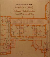 Biltmore House- 2nd Floor- Blueprint Floorplan Arch