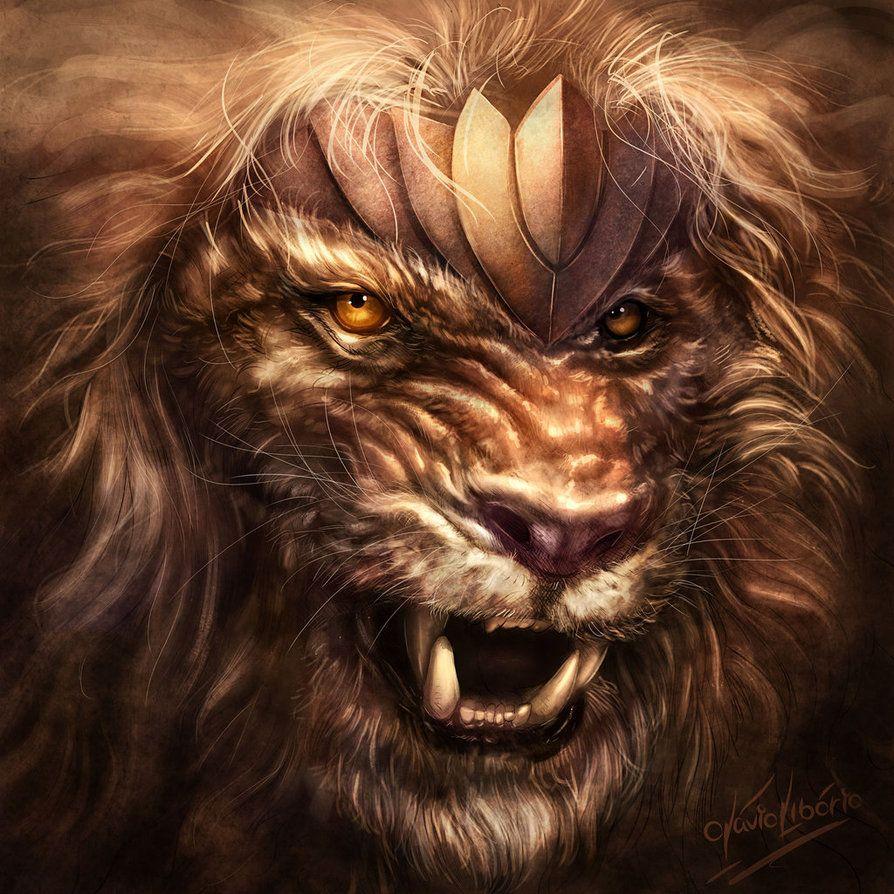 warrior lion   living the fantasy   pinterest   lions, artwork and