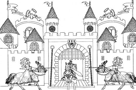 King Arthur Castle lots of great free printable coloring