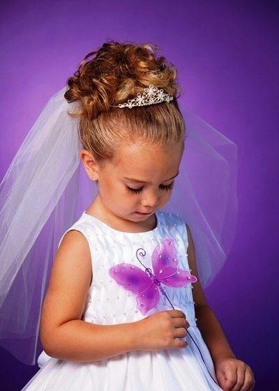 Little Flower Girl Hairstyles With Tiara Wedding Stuff