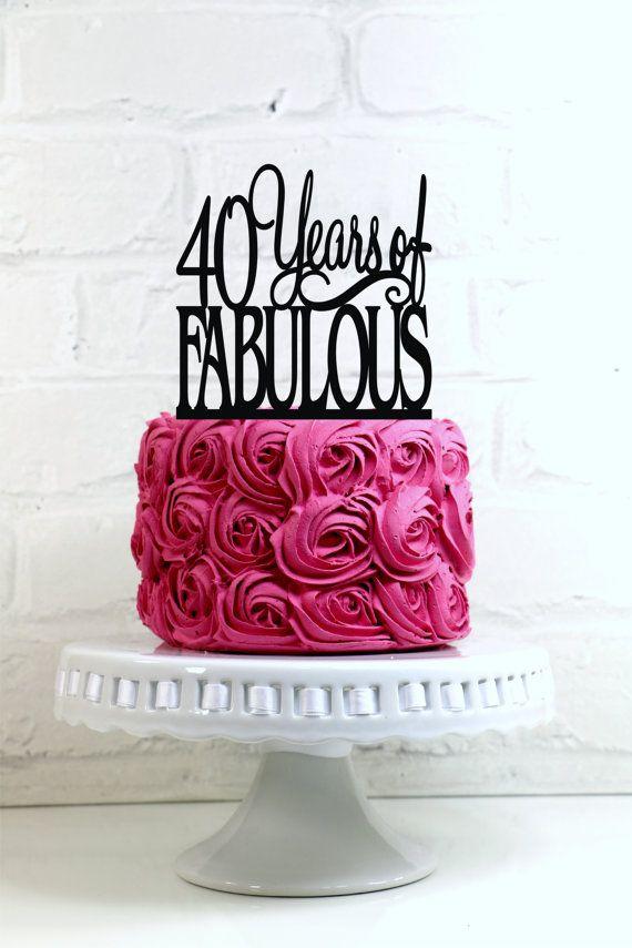 Happy Birthday Cake 40th