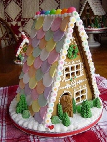Pretty Gingerbread House With Necco Wafer Room And Beautifully