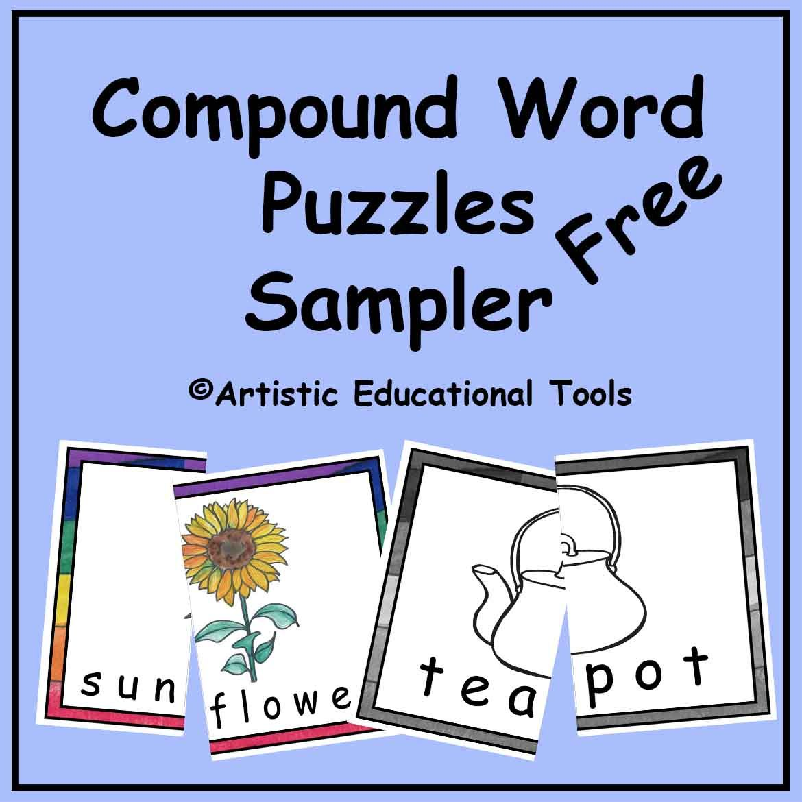 Compound Word Picture Word Puzzles Sampler Includes A