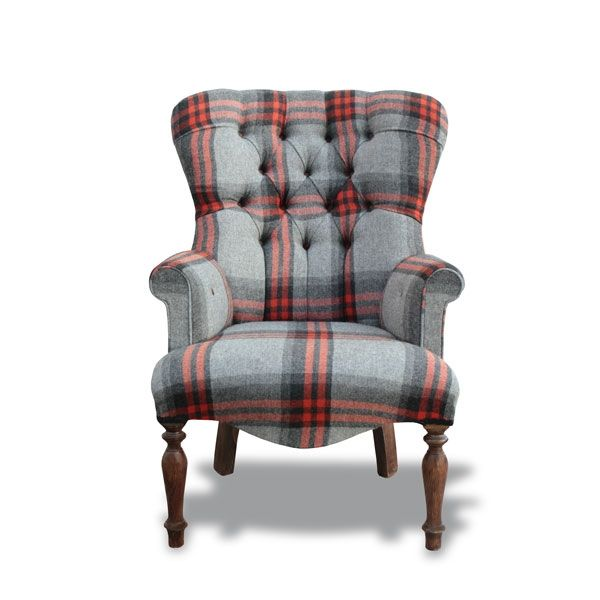 striped chair covers dining rooms what s a gaming red & grey wool tartan small tub   pinners' favourites pinterest tub, ...