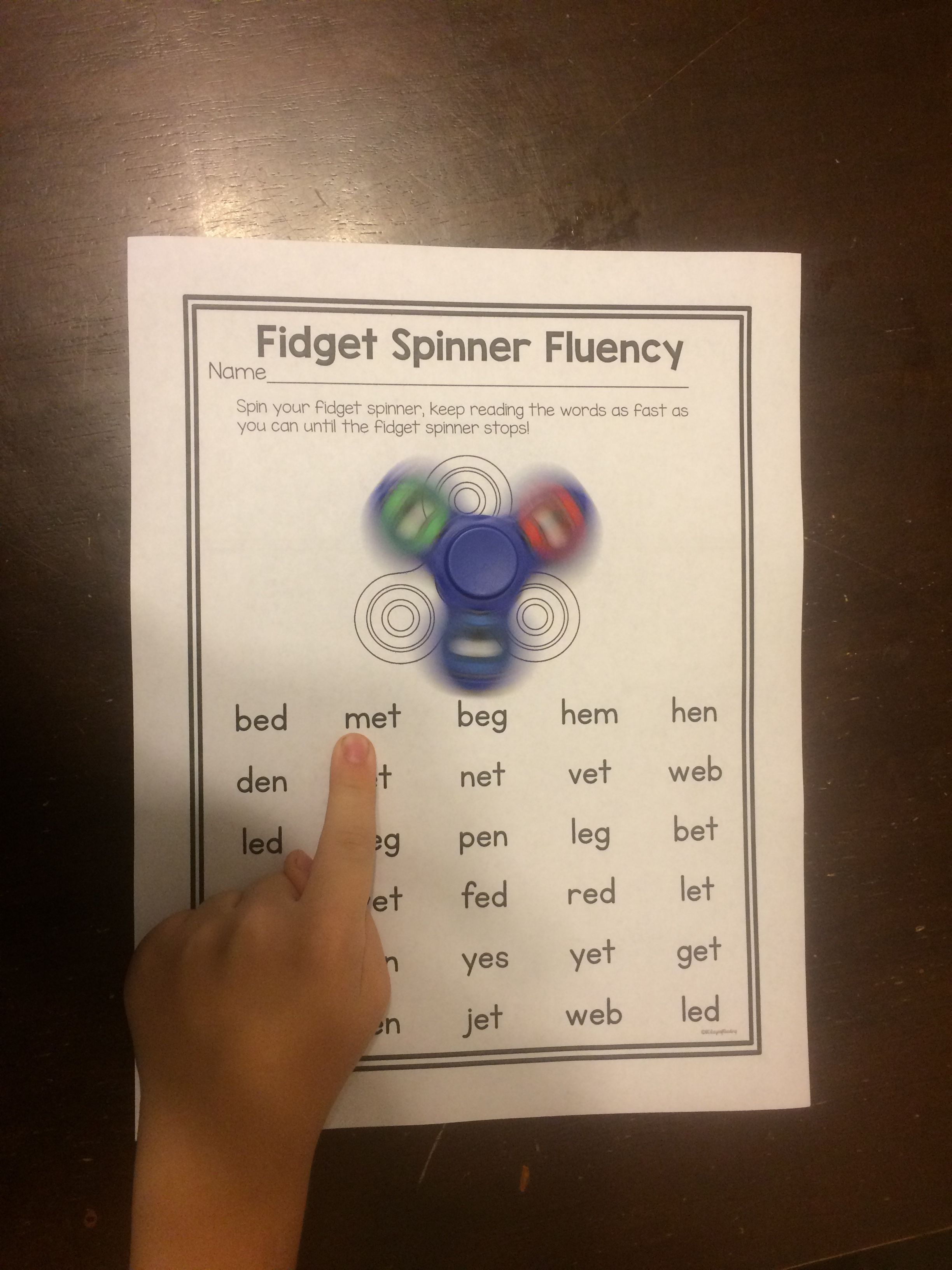 Fidget Spinners Are All The Craze Right Now Turn Them Into A Fluency Practice With This