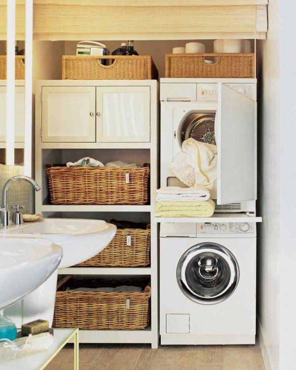 Small Laundry Room Design Ideas Sink Storage Cabinets Shelves
