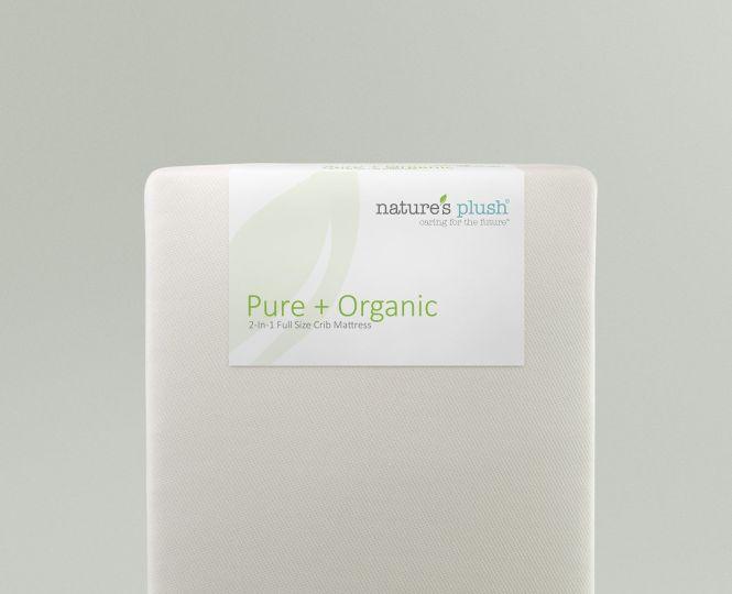 Pure Organic 2 In 1 Full Size Baby Crib Mattress