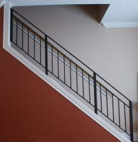 wrought iron stairway railing | Toronto Custom Metal ...