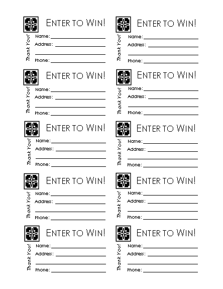 printable raffle ticket paper