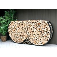 8ft Double Round Firewood Rack w/Kindling Holder & Cover ...