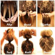 quick and easy hairstyles step-step