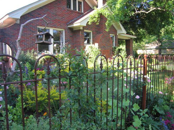 Cottage Garden Iron Fence Cottage Garden Pinterest Gardens
