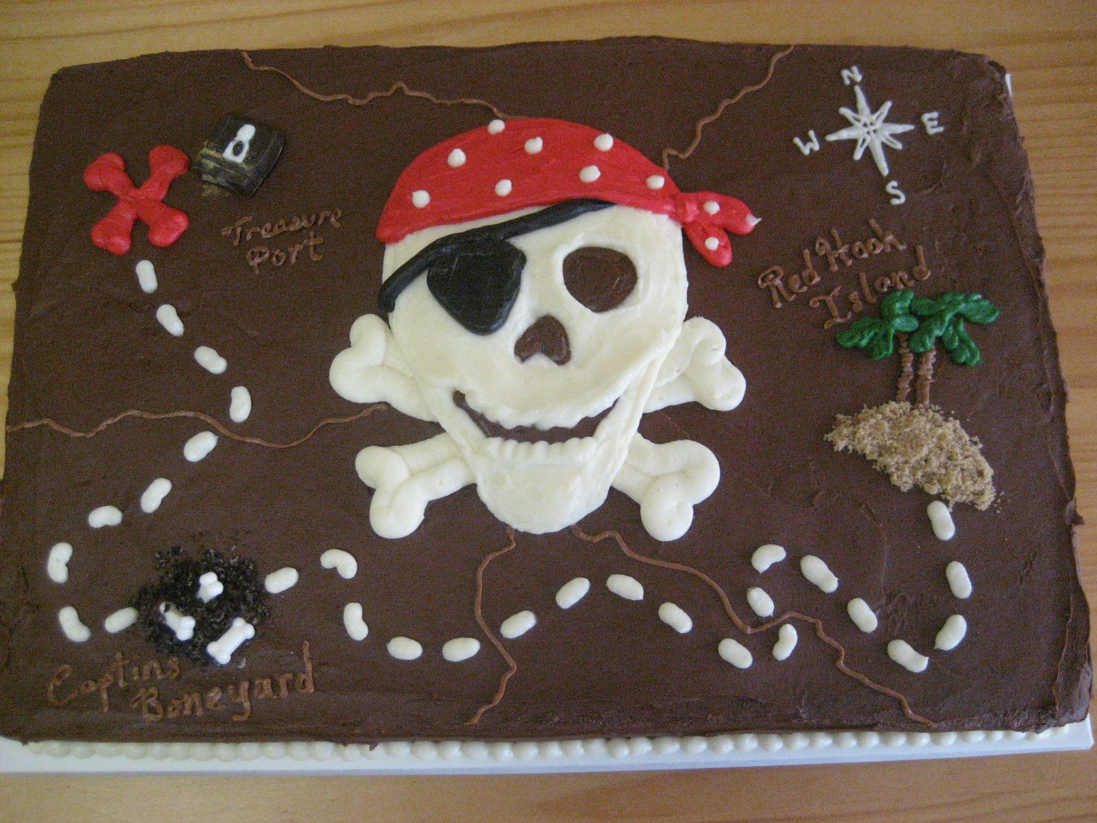 Treasure Map Cakes