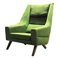 Green Mid Century Modern Lounge Chair | V&M Seating ...